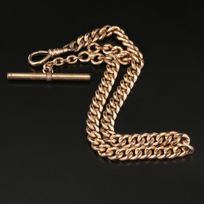 Vintage Curb Link Watch Chain