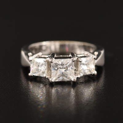 Cubic Zirconia Three Stone Ring