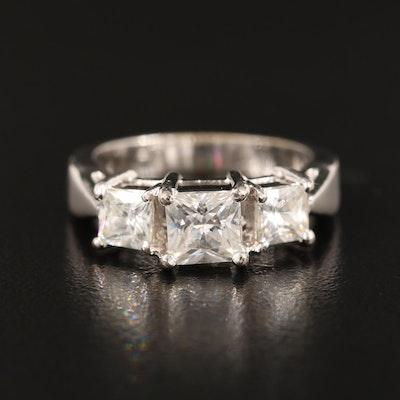 Cubic Zirconia Three Stone Ring