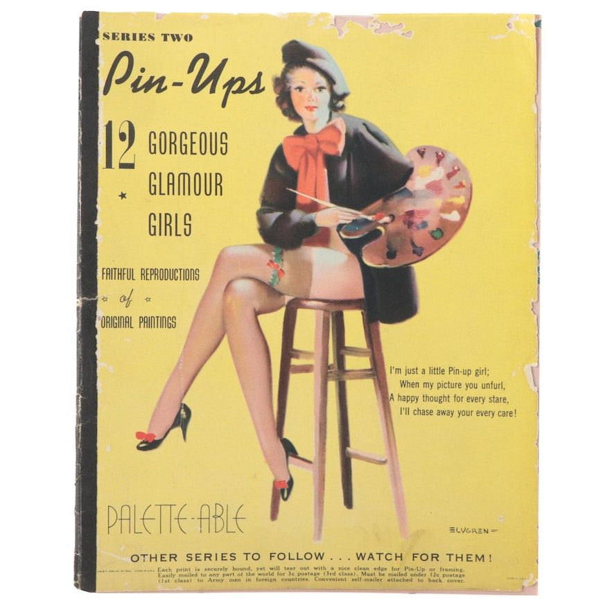 """Offset Lithograph Pinups """"Series Two Pin-Ups,"""" Mid-20th Century"""
