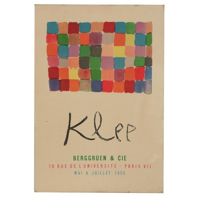 Lithograph Exhibition Poster after Paul Klee for Berggruen & Cie, 1955