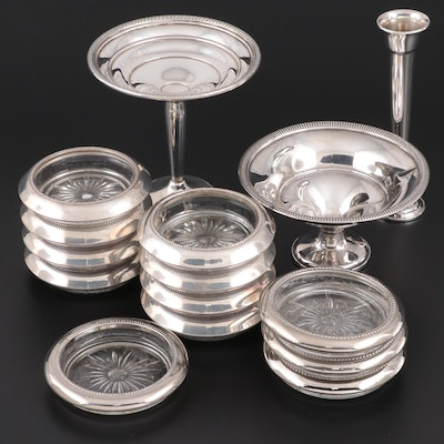 Fisher, Gorham and Other Sterling and Silver Plate Table Accessories