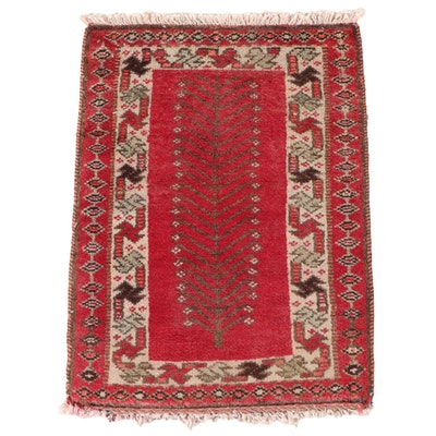 1'7 x 2'3 Hand-Knotted Persian Luri Wool Accent Rug