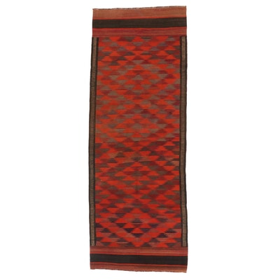 3'11 x 10'8 Handwoven Afghan Kilim Carpet Runner