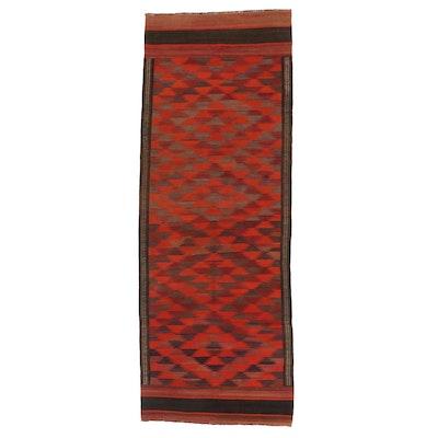 3'11 x 10'8 Handwoven Afghan Kilim Carpet Runner