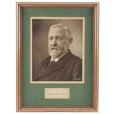 Pach Bros. Photograph of Benjamin Harrison with Cut Signature, Visual COA