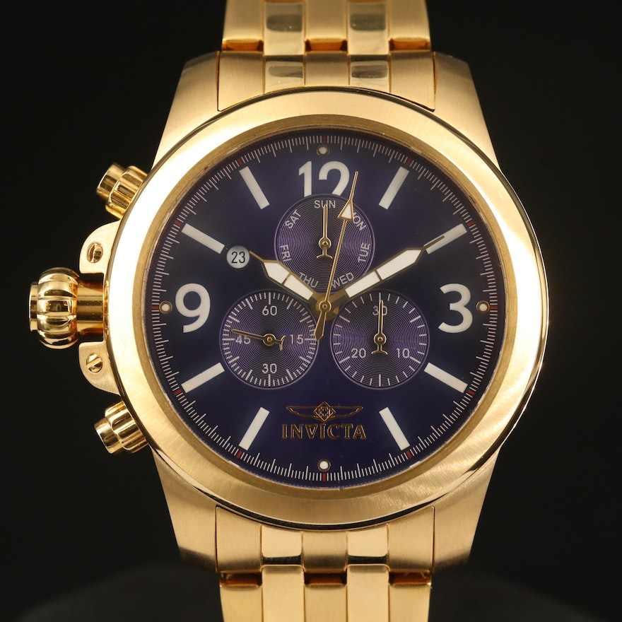 "Invicta ""Specialty Lefty"" Chronograph Wristwatch"