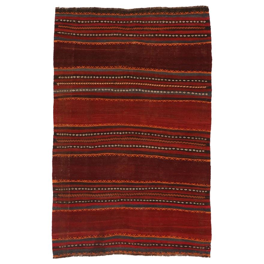 3'10 x 6'0 Handwoven Afghan Kilim Area Rug, Mid-Late 20th Century