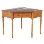 Baumritter for Ethan Allen Walnut Corner Desk, Mid-Late 20th Century