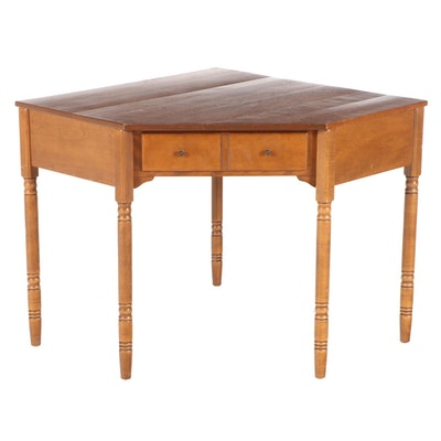 Baumritter for Ethan Allen Walnut Corner Desk, Mid-Late 20th Century