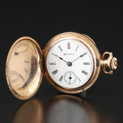 1908 Hampden Hunting Case Pocket Watch