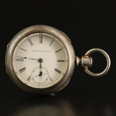1884 Elgin Coin Silver Pocket Watch