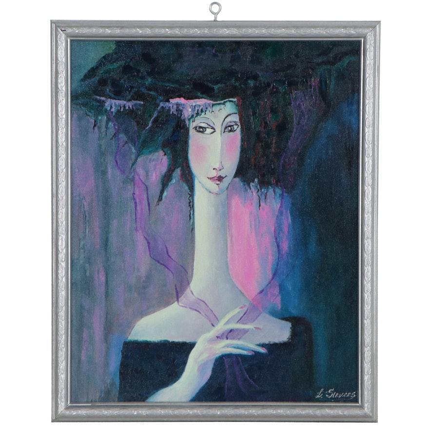 """Larissa Sievers Oil Painting """"Happiness Fairy,"""" 2021"""