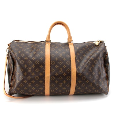 Louis Vuitton Keepall Bandoulière 55 in Monogram Canvas