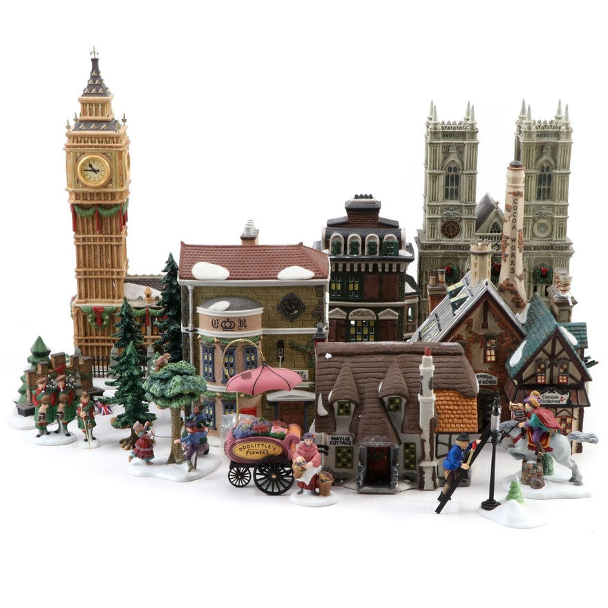 Department 56 Dickens' Village and Other Christmas Village Accessories