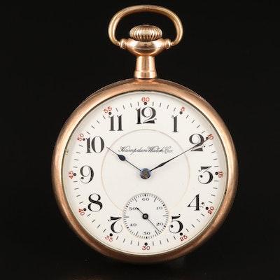 1915 Hampden Gold-Filled Open Face Pocket Watch