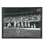 """Pete Rose Signed """"1st Game 4/8/63 Crosley Field"""" Framed Poster Print, with COA"""