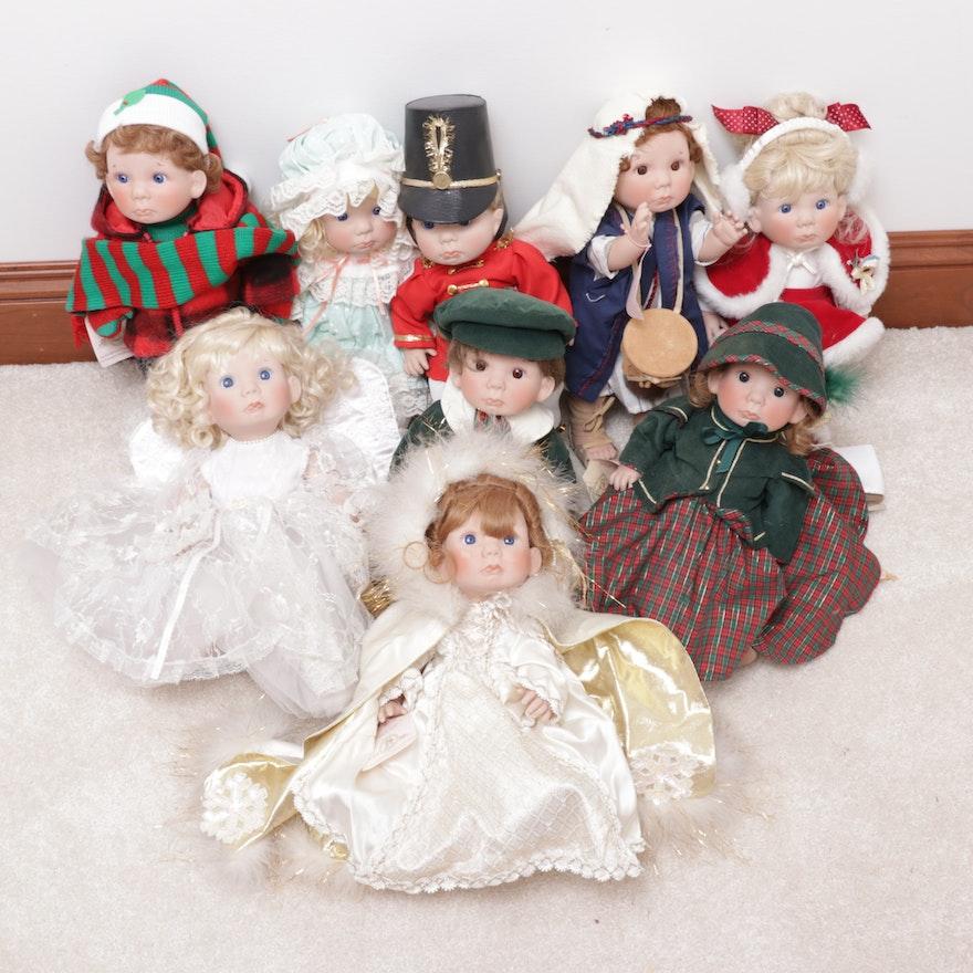 Lee Middleton Dolls Including Christmas Themed