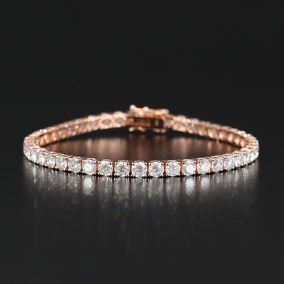 14K Rose Gold 9.48 CTW Diamond Line Bracelet