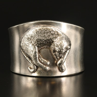 Carol Felley Sterling Leopard Cuff