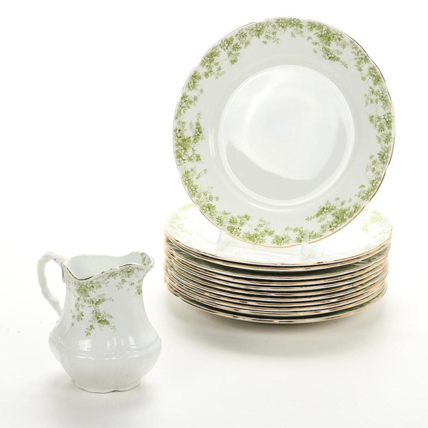 "Royal Doulton ""Kathryn"" Porcelain Plates and Creamer, c. 1891"
