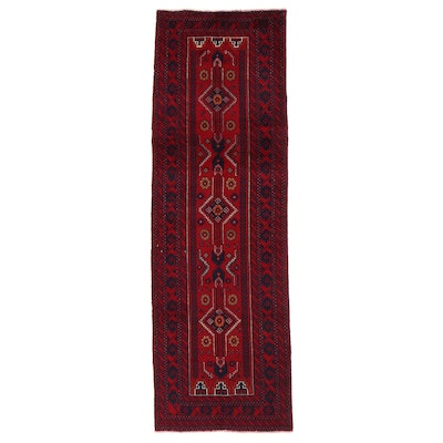 3'4 x 10'2 Hand-Knotted Afghan Baluch Long Rug