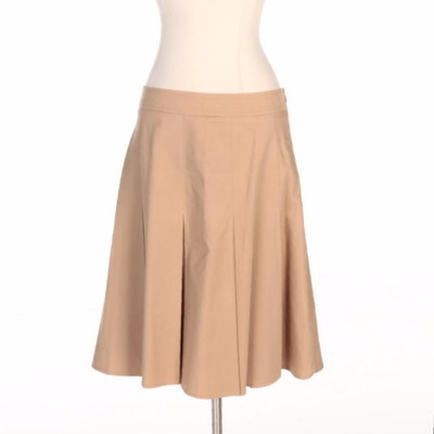 Burberry Box Pleated A-Line Skirt