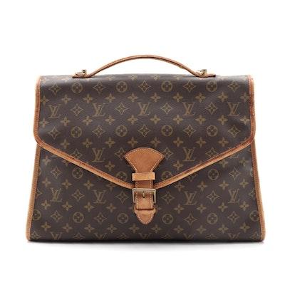 Louis Vuitton Beverly Briefcase GM in Monogram Canvas and Vachetta Leather