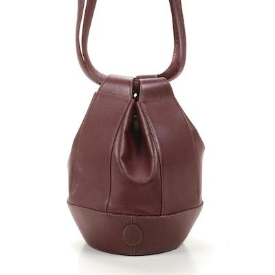 Cartier Must De Cartier Bucket Bag in Burgundy Leather