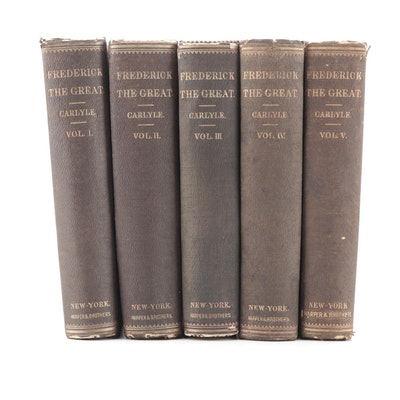 """Frederick the Great"" Five-Volume Set by Thomas Carlyle, 1858–1865"