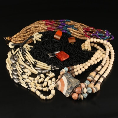 Beaded Bone and Gemstone Jewelry Featuring Silpada and Sterling