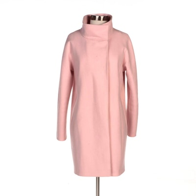 Tahari Eliat Wool Blend Coat in Shell Pink