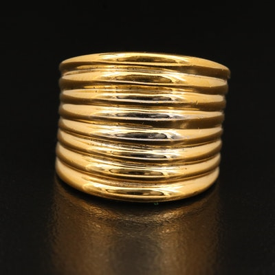 Sterling Silver Fluted Band