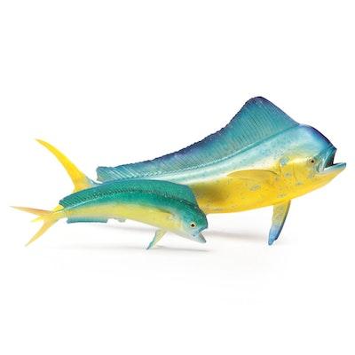 Mahi-Mahi Fish Replica Wall Mounts