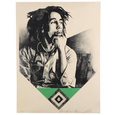 "Shepard Fairey Collaborative Serigraph ""Catch a Fire (Green),"" 2020"