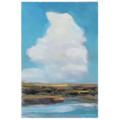 "Stephen Hedgepeth Oil Painting ""Blue Sky"""
