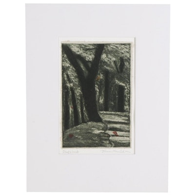 "Thomas Norulak Aquatint ""Dark Woods,"" 2000"
