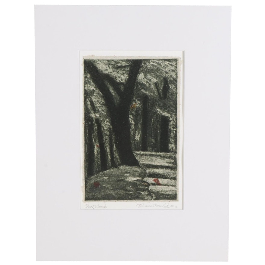 "Thomas Norulak Aquatint ""Dark Woods,"" 2000"