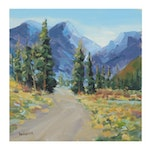 """Stephen Hedgepeth Oil Painting """"Canyon Road,"""" 21st Century"""