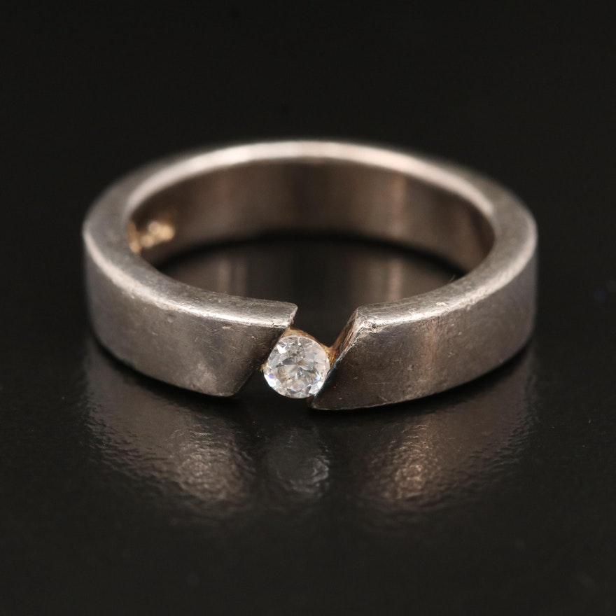 Sterling Cubic Zirconia Band