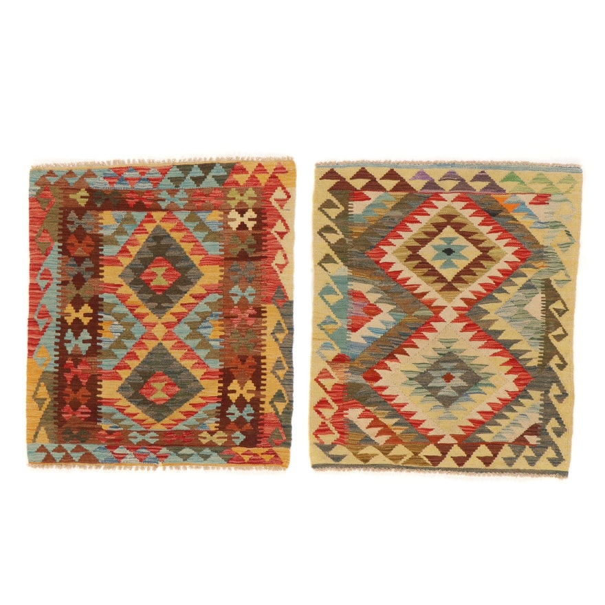 2'11 x 3'5 Handwoven Afghan Kilim Accent Rugs