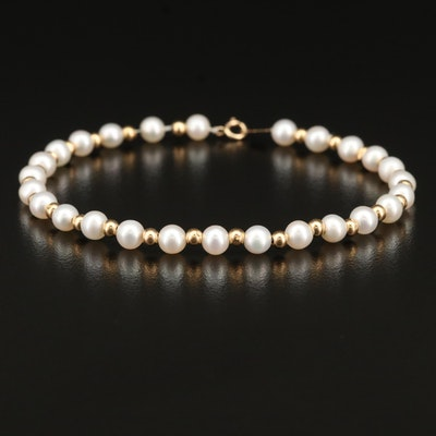 14K Pearl Beaded Bracelet