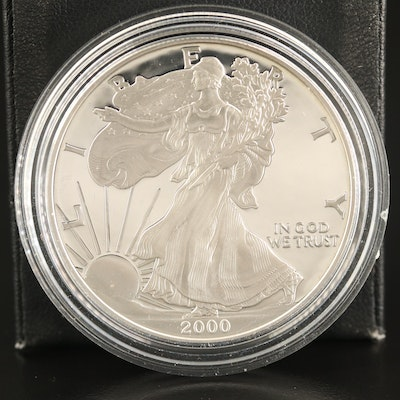 2000-P $1 American Silver Eagle Proof Bullion Coin