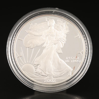 2002-W $1 American Silver Eagle Proof Bullion Coin