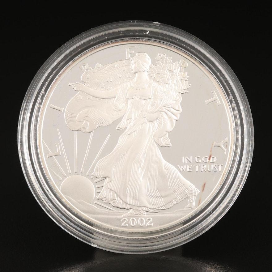2002-W $1 American Silver Eagle Proof Bullion Coin