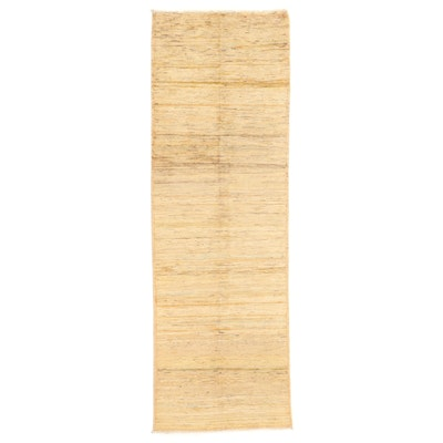 3'3 x 9'9 Hand-Knotted Afghan Gabbeh Long Rug