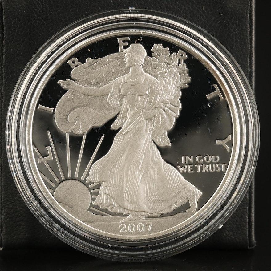 2007-W $1 American Silver Eagle Proof Bullion Coin