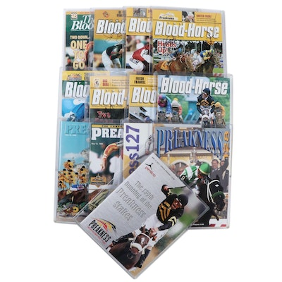 """Preakness Stakes Programs and Signed """"The Blood-Horse"""" Magazines"""