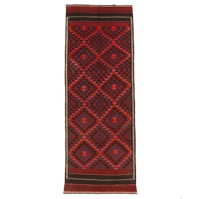 4'9 x 12'7 Handwoven Afghan Kilim Long Rug