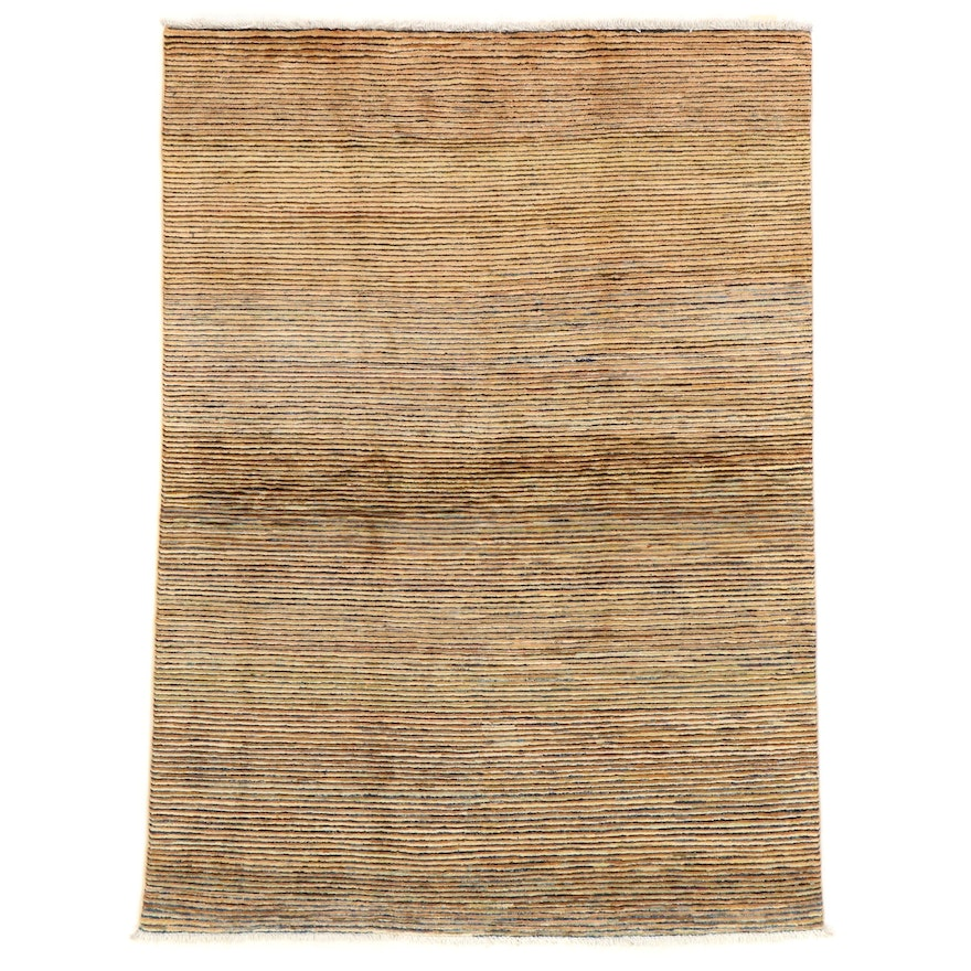 4'10 x 6'8 Hand-Knotted Afghan Gabbeh Area Rug